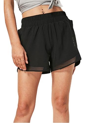 Sunnydaysweety black Loose Cutting Sports Shorts A081015BK 1C8BEAA35686B6GS_1