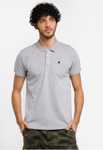 JAXON grey Outline Detail Polo Shirt 42085AAF197F8CGS_1