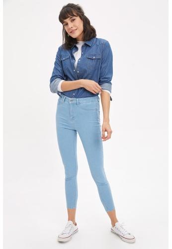 DeFacto blue Woman Denim Trousers 68B0CAA18EA498GS_1
