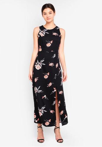 Dorothy Perkins black Petite Black Floral Maxi Dress C8D02AAC3999F0GS_1