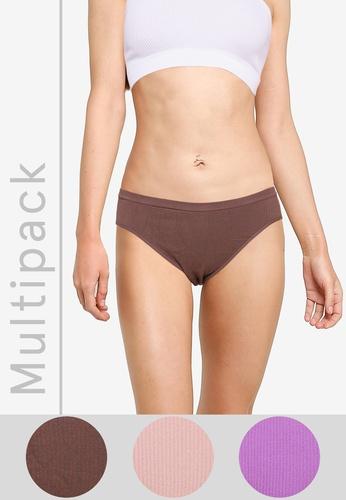 Cotton On Body multi Seamless Bikini Cut Briefs 3 Pack E6F25US66FDF9FGS_1