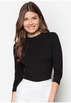 Basics High Neck Fitted Top