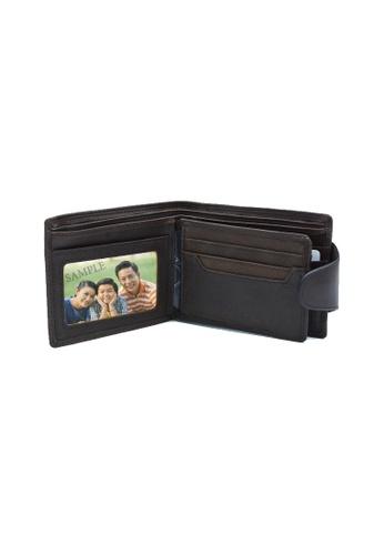 EXTREME brown Extreme Men's Genuine Leather Wallet With Button Closure DE9DBACEC3C1BCGS_1