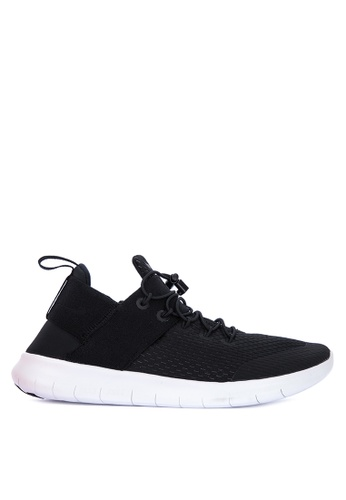 Nike black and white Women's Nike Free RN Commuter 2017 Running Shoes NI126SH0UHONID_1