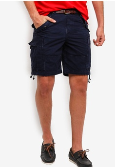 1020e8610 Polo Ralph Lauren navy Slub Cotton Canvas Shorts 12D4DAAD197E11GS 1
