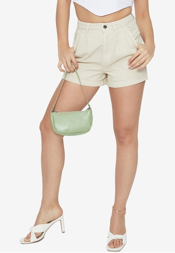 Supre beige 90s Slouch Denim Shorts 425A0AAF46CC7FGS_1