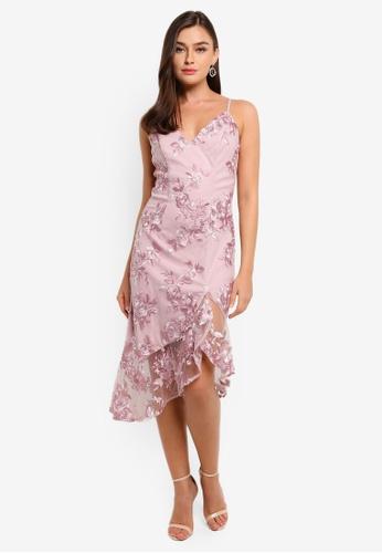 CHI CHI LONDON pink Lilliana Dress 7FB14AA98E6C55GS_1