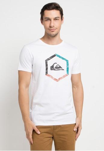 Quiksilver white Multi-Hex Mod T-Shirt 483F6AAB22C0EFGS_1