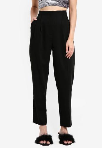 Miss Selfridge black Black Peg Leg Trousers F60CDAAC0630EBGS_1