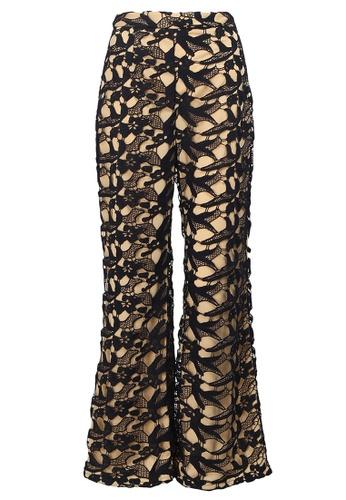 POPLOOK blue Nevada Lace Pants FAF2CAAB6F2546GS_1