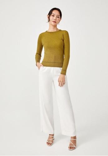 Love, Bonito yellow Svea Ribbed Knit Sweater 1A541AAB8782F8GS_1