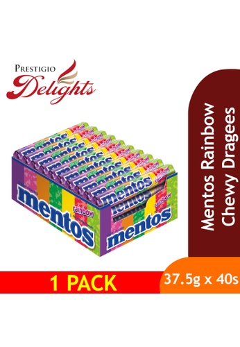 Prestigio Delights Mentos Rainbow Chewy Dragees 37.5g x 40s A69FFES2F9AC4EGS_1