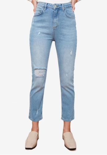 Trendyol blue High Waist Slim Fit Jeans C3F79AAE842DB5GS_1