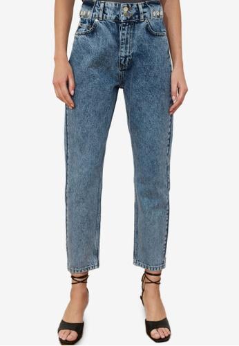Trendyol blue High Waist Mom Jeans 053EEAAF4EE510GS_1