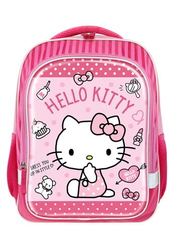 Hello Kitty pink Hello Kitty Enjoying Primary School Bag B73BDKCEBEB823GS_1