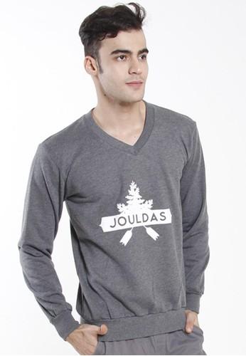 JOULDAS grey Jouldas Grey Men Sweatshirts 8D86AAA817B584GS_1