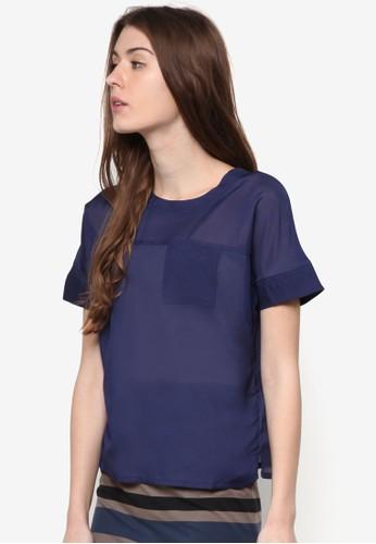 Nalla 口袋短袖T-shirt、 服飾、 上衣ChaniraNalla口袋短袖上衣最新折價