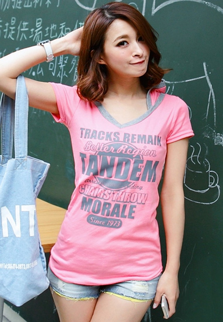 [IMPORTED] Tracks Tandem Morale Hooded Tee - Pink
