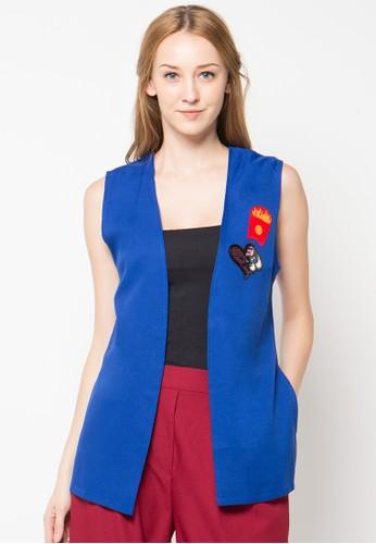 Raspberry blue Alicia Sleeveless Vest RA572AA66PTDID_1