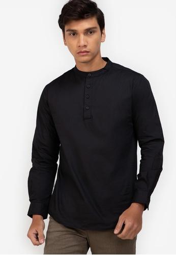 ZALORA BASICS black Tunic-Style Shirt A69ADAAC78A65CGS_1