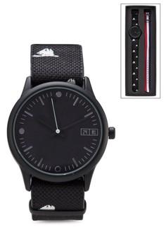 Yatch Print Duo Strap Watch Set