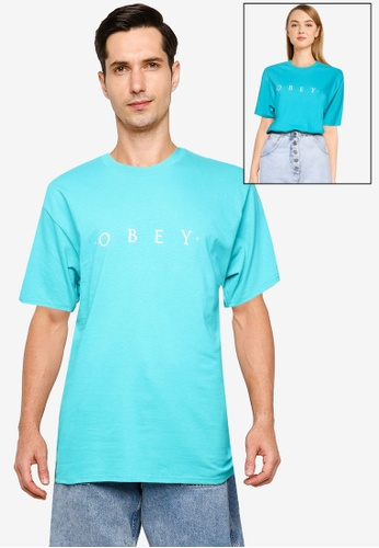 OBEY green Novel Obey T-Shirt 1BE19AAF71110EGS_1