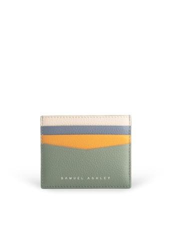 Samuel Ashley green Finley Card Holder - Aloe A98BFAC5018FF5GS_1