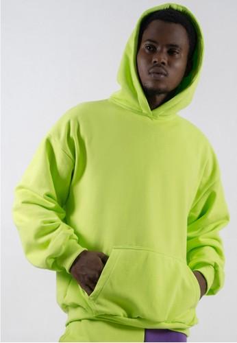 Ocwa Studio yellow and green OCWA Basic Neon Hoodie 7E1B5AA957082BGS_1