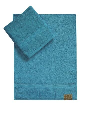 Cotton Fields blue Cotton Fields Hand Towel Plain 5526AHL11BBE72GS_1