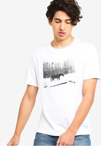 Calvin Klein 白色 Andy Warhol Landscape Regular Short Sleeve 5BC43AAEBF3113GS_1