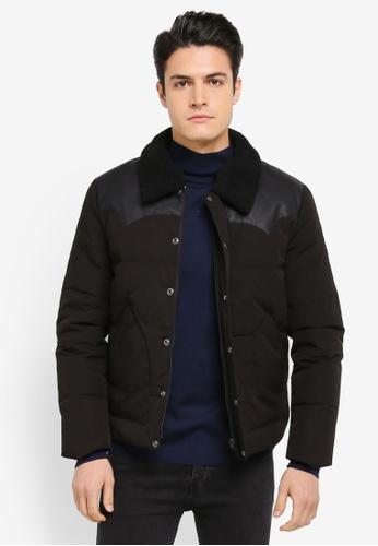 ESPRIT 黑色 Outdoor Woven Regular Jacket ES374AA0SZUAMY_1