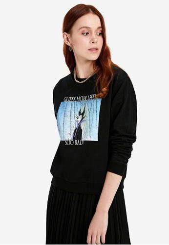 LC Waikiki black Maleficent Printed Sweatshirt 924EAAA2DE5319GS_1