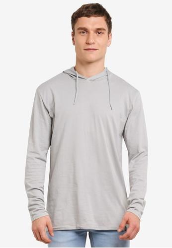 Factorie grey Long Sleeve Hoodlum T Shirt FA880AA0SAB1MY_1