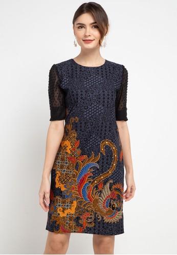 Rianty Batik black Dress Denza 23BE5AA0512723GS_1