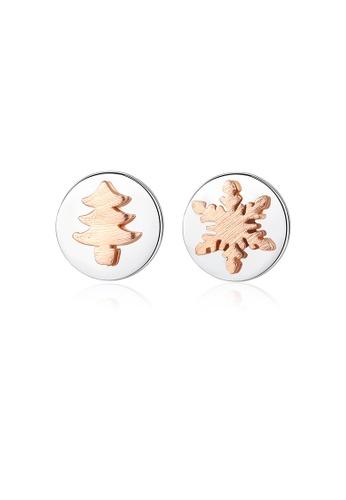 SUNRAIS silver High quality Silver S925 silver simple design earrings 158C7AC69102D3GS_1