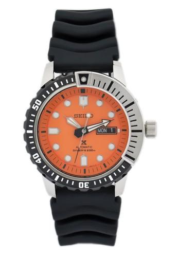 Seiko black Jam Tangan Pria Seiko Divers Original Garansi Resmi Strap Rubber Black SRP589K1 SRP589 black 80492AC9C72D6BGS_1