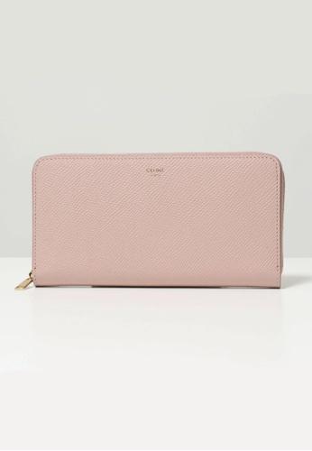 Celine pink CELINE LARGE ROUND-ZIPPED WALLET F080DAC76E9BB4GS_1