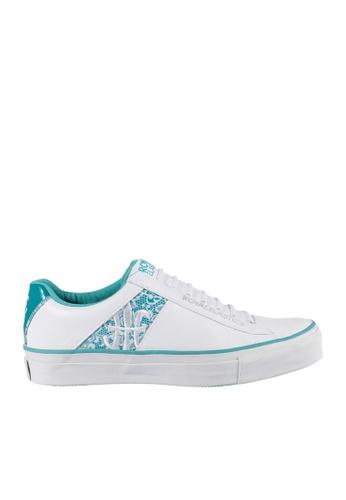 Royal Elastics white and green Cruiser Leather Sneakers RO796SH2UYKVHK_1