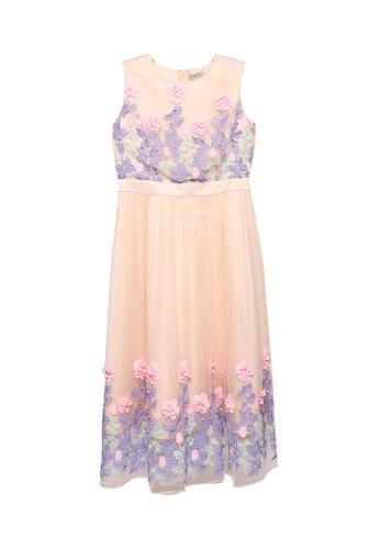 Megane beige Red Romance Alyssa 3d Flora Dress 1F634AA9AD0471GS_1