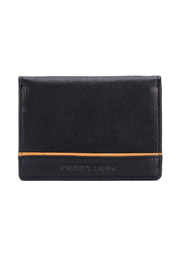 ENZODESIGN black and brown ENZODESIGN Full Grain Cow Nappa Leather Card Holder With Center Divider V18B-CBHK 707B3ACE25D006GS_1