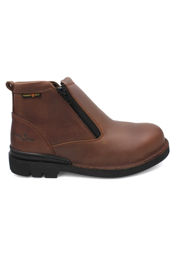 midzone brown HAMMER KING Safety Genuine Leather Boots MZHK13003 Brown 9B2C7SH271D04BGS_1