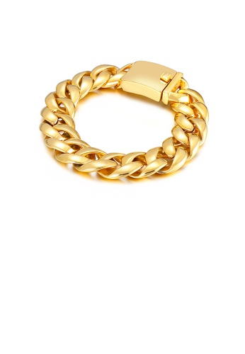 Glamorousky silver Fashion Personality Plated Gold Geometric 316L Stainless Steel Bracelet 3461DAC33822B6GS_1