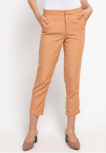 LLACES CLOTHING brown Petite Slim Office Pants 9991BAAB05998BGS_1