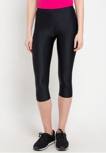 OPELON black Capri Pants 76E25AA896FDFCGS_1