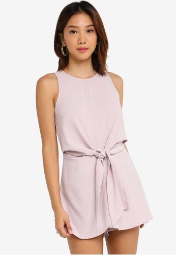 Something Borrowed 粉紅色 前綁帶無袖連身短褲 2BD52AA3EB3B4BGS_1