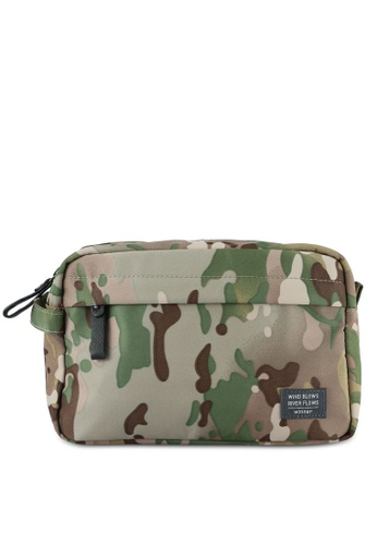 Bagstationz green Lightweight Water-Resistant Travel Toiletries Pouch BA607AC0S0G1MY_1