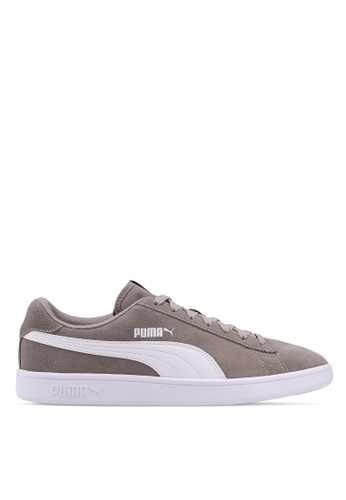 Puma grey Sportstyle Core Puma Smash V2 Shoes B8B15SHFDAF5AEGS_1