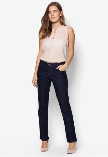 直zalora時尚購物網的koumi koumi筒窄管牛仔褲, 服飾, 服飾
