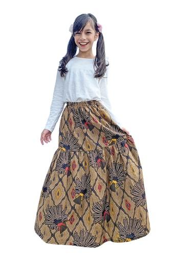 QUTN multi Batik Flare Skirt 9B640KAE4EE890GS_1