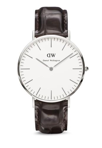 York 經典大圓框裱, 錶類,esprit 香港 皮革錶帶